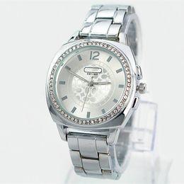 2017 Wholesale Hot Women golden watch Famous Brand wristwatch Japan movement quartz Fashion lady silver dress Watch High Quality