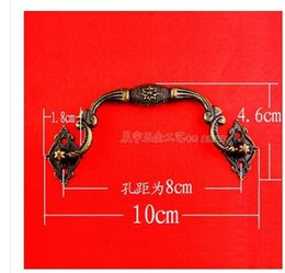 Wholesale furniture fittings B056 zinc alloy antique wooden box eight star handle special handle parts of European cabinet drawer pull