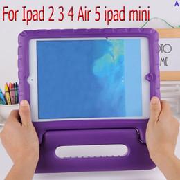 Coloré Enfants Drop Proof Safe mousse EVA Cover Case Poignée de stand pour ipad 4 5 6 air 2 ipad mini 2 3 à partir de enfants ipad poignées de cas fabricateur