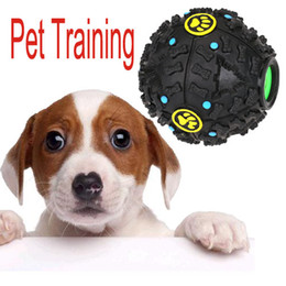 Wholesale 3 Size New Squeaky Feeding Food Ball Pet Dog Voice Sound Ball Toy Pets Training Tool Funny Products H13286