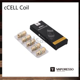 Wholesale Vaporesso Ceramic cCELL Coils ohm ohm ohm Ni200 ohm cCELL Replacement Coil Head For Target Tank Original