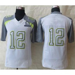 Wholesale 2015 New Pro Bowl Football Jerseys White Elite All Star Jerseys Quarterback Jersey Brand Embroidery High Quality Football Shirts
