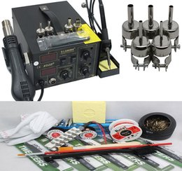 220V or 110V Saike 852D+ 2 in1 Digital Display Hot Air Gun Solder Iron Soldering Station +Super Multi gift