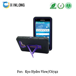 For Kyocare hydro view c6742 kickstand case silicon+pc 2in1 Hybrid robot case cellphone case