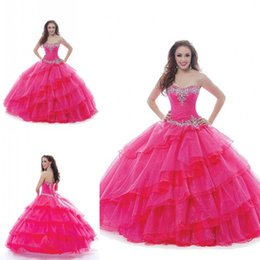 Wholesale Cheap Sexy New Years Dresses - 2015 Vintage Cheap quinceanera Dresses Ball Gowns Muit Layer Tulle Sweetheart Sleeveless Floor length Custom Made China New 16 Years Sweet