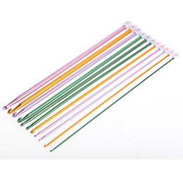 Multicolor Alumina Needle 2.0-8.0mm Knitting Kit Crochet Hooks Knitted Suit Weaving Tool Knitting Needle 11pcs