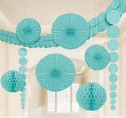 Wholesale Bulk Sale Tissue Paper Fan Inch Fans for Wedding Decoration