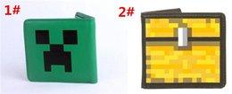 Wholesale 60pcs fashion good quality Minecraft wallet Purses cartoon Creeper face brand wallet Game children kids Holders D414
