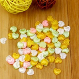 Heart Shape 1000pcs 10mm Imitation Pearls Heart Shape Half Pearls Flatback Beads Cute For Nail Cellphone Laptop Art