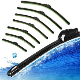 Wholesale Fashion Hot Car Flat U type Frameless Bracketless Rubber Windshield Windscreen Wiper Blade