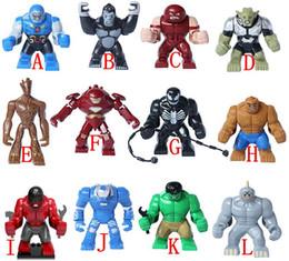 Wholesale 192pcs Big Guardians of Galaxy Groot juggernaut Venom Lazy Rhino Goblin Hulk MiniFigures Toys Building Action Figures Bricks Toy