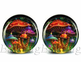 Wholesale mm gauges bag body jewelry mushroom paradise ear plug gauges tunnel ear expander ASP0223