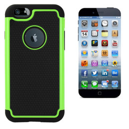 Wholesale For iphone S iphone6S Plus Football Rugged Hybrid hole Plastic Hard Silicone soft Case Ballistic Impact Camo skin cover Caess