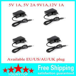 100PCS AC Converter Adapter DC 5V 2A 5V 1A 9V 1A 12V 1A Power Supply Charger EU US plug