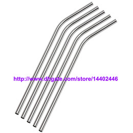 Wholesale DHL Stainless Steel Straw Steel Drinking Straws quot g Reusable ECO Metal Drinking Straw Bar Drinks Party Stag