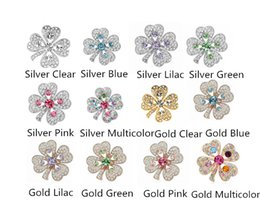Free Shipping ! Top Qulity ! Gold Silver Plated Mix Color Rhinestone Crystal Small Brooches and Pins Gift
