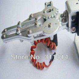 Wholesale 1 Set DOF Aluminium Robot Arm Robotic Arm Clamp Claw Mount Kit MG995 Servos For Arduino Retail