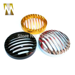 Wholesale Chrome Silver Motorcycle Headlight Grill Cover for Harley Sportster XL1200 XL Billet Aluminum Front Lamp Shade