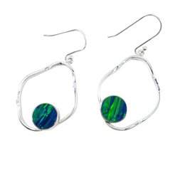 Colorful opal Dangel earrings sterling silver dangle earrings pure handmade for lovely lady for Model E984