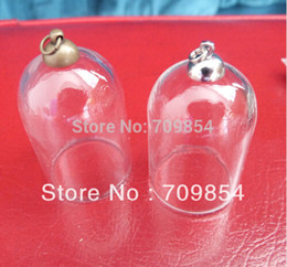 Wholesale mm new bell shape bubble glass vials bottle with white K Antique bronze top end beads