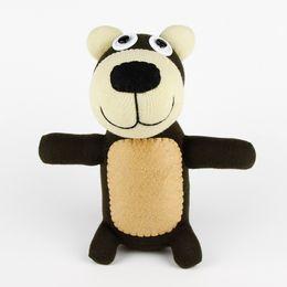 Wholesale Handmade baby toys sock monkey bear stuffed animal doll