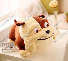 Descuento juguete de peluche bulldog Nueva Llegada de 38cm Rio 2 Bulldog Lewis de peluche de felpa bebé juguetes para niños de dibujos animados de animales figuras de acción, muñecos de peluche de regalo