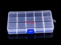 Free Shipping New Arrival 15 compartments free installation demolition Transparent PP plastic jewelry storage box,500pcs lot