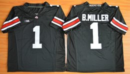 Wholesale Ohio State Buckeyes Braxton Miller Blackout College Football Jerseys Size Embroidery Logo bcs