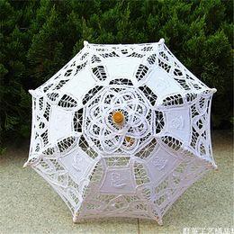 Wholesale Hot Sale Sun Parasols for Wedding Party Handmade Brides Paper Lace Parasols Hand Holding Parasols for Wedding Shoots Parasols