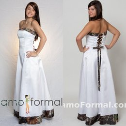2015 Cheap Camo Wedding Dresses Custom Made Strapless A-line Floor Length Popular Bridal Gowns with Lace-up Back Saudi Arabic Style