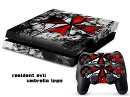 Wholesale RESIDENT EVIL LOGO DECAL SKIN PROTECTIVE STICKER for PS4 CONSOLE CONTROLLER