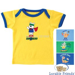 2015 Newly Baby Tops 3 Packs Baby T-Shirts Luvable Friends Cartoon Style Polo Baby Clothing