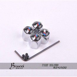 Wholesale Theftproof Stainless Steel Car Wheel Tire Valves Tyre Stem Air Caps Airtight Cover For BMW modifications m