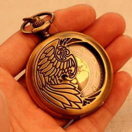 Wholesale Hot Sale Pocket Watch For Men Women Necklace Quartz Pendant Vine Pattern With Long Chain