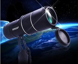 Lente de enfoque dual en Línea-2015 Nuevo telescopio óptico monocular de la lente óptica del zoom doble del foco de la alta calidad 16X52 que acampa que envía libremente