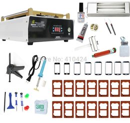 Wholesale 15 quot Vacuum LCD Separator Machine Built in Pump With Moulds For iPad Iphone Sumsung galaxy Tablet pc Screen Repair