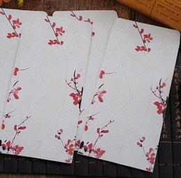 Wholesale 215 MM Vintage Japan style romantic plum blossom Series DIY Multifunction Art envelope Postcard bag Gift envelopes dandys