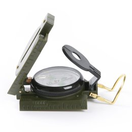 Wholesale Army Green Military Marching Compass Magnifier For Survival Camping Hiking Unit
