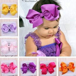 Hot Nice Girls Baby 15CM Ribbon Bows with Clips Children Grosgrain Bowknot Headbands Hair clips Girls Hair Accessories Kids Barrettes