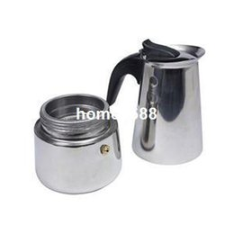 Wholesale 2014 New TS Practical Cup Coffee Percolator Stove Top Coffee Maker Moka Espresso Latte Stainless Steel Pot ST