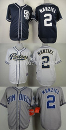Promotion johnny maillots manziel San Diego Padres # 2 Johnny Manziel onfield Cool Base Cheap Authentic Baseball Jerseys Broderie Logos Jersey Livraison gratuite