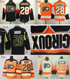 Factory Outlet, For Sale Cheap Men's Philadelphia Flyers Hockey Jerseys #28 Claude Giroux Jersey High Quality Stitched Size M-XXXL Wholesale