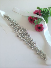 Wholesale ACG NEW Crystal sashes for wedding Wedding Bridal Belt Braided Rhinestone Sash