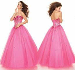 Wholesale Latest Style Strapless Ball Gowm Sequins Trimmed Princess Quinceanera Dresses with Bowknots Prom Dresses Evening Party Gowns