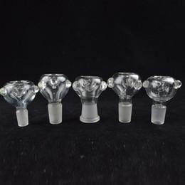 Bonnes bongs en Ligne-Bol de verre rond 18mm ou 14mm Verre de borosilicate Boules mâles ou femelles pour bongs Bonne étanchéité 14.4mm 18.8mm Joint Clear Bowl
