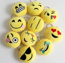 Wholesale Selling Wedding Favors - Wedding Keychains wedding gift Lovely Emoji Smiley keychains love keychainS Keychain Favors 2016 new style hot selling
