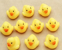 Best wholesale Baby Bath Water Toy toys Sounds Yellow Rubber Ducks Kids Bathe Children Swiming Beach Gifts