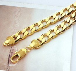Wholesale best buy Yellow gold jewelry Heavy Classic men s k yellow solid gold GF chain necklace in