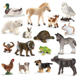 Wholesale Si Le wild farm animal model simulation of cognitive small duck frog turtle lion horse sheep dog monkey chicken beef