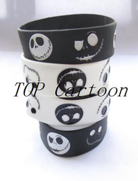 Wholesale 50 pcs set New Nightmare Before Christmas Wristbands Silicone Bracelets W04